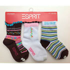 3 PAIR Socks ESPRIT 3pk Infant Baby Toddler Girl Size 0-6 / 6-12 / 12-18 Month B