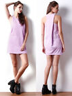 Womens Summer Dresses Girls Sleeveless Loose Tunic Shift Casual Party Mini Dress