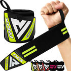 RDX Weight Lifting Wrist Strap Elasticated Gym Wraps Bodybuilding Grip Support