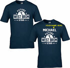 WEST BROM T SHIRT FUTURE STAR CHILDRENS KIDS PERSONALISED ages 3/4  to 12/13