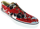 Sperry Striper Cvo Men's Hawaiian Print Red Low Cut Lace Up Canvas Shoes New