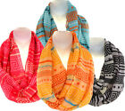 New Greek Key Print Infinity Scarf - 4 Color Choices