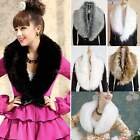 New Ladies Fluffy Faux Fur Pashmina Stole Scarf Shawl 9 Gorgeous Colour Collar A