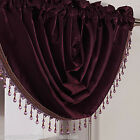 STUNNING BURGUNDY SWAGS WITH THE FANCIEST CRYSTAL TASSELS & BRAIDING
