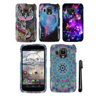 For Pantech Perception ADR930L Snap On PATTERN HARD Case Phone Cover + Pen