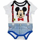 Baby Boy Licensed MICKEY MOUSE Cotton Summer Bodsuit Romper Outfit