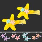 2pcs Cute Starfish Flower Hair Clip Hairpin For hildren Student Baby Girls Gift