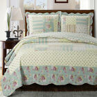 Annabel Oversize Quilte Coverlet 3 Piece 100% Microfiber Wrinkle-free Set