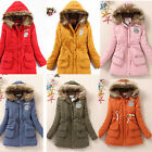 NEW BRAND Womens Faux Fur Thicken Winter Hooded Parka Coat Jacket Outwear US HF
