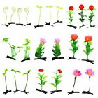 15pcs Grass Leaf Plant Flower Headwear Womens Hairpins Clip Hair Accessories LC