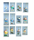Santa and Snowpeople Professional Ornaments by Figi with String Legs