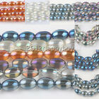 Hotsell 15/30 PCS Smooth Olive Shape Crystal Spacer Loose Beads 11X8mm Craft DIY