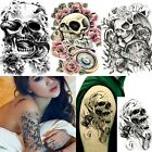 3D Waterproof Skull Arm Temporary skull tattoo stickers Body Art Removable
