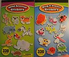 330 Stickers Bugs Insects Wild zoo animals bee lion monkey bird etc FREE POST
