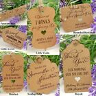 Personalised Kraft Wedding Favour Tags/ Thank You Tags/ Gift Tags with Twine III