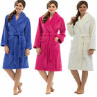 Ladies Coral Fleece Dressing Gown Bath Robe Supersoft Lounge Cosy Warm LN620