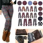 Women's Fleece Nordic Leggings Winter Knit Thermal Insulated Christmas Pants