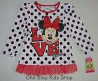 MINNIE MOUSE Toddler Girls 24 Mo 2T 3T 4T 5T Long Sleeve Tee SHIRT Top Disney
