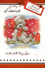 for / to my FIANCE with all my love cute merry christmas card - multi-listing