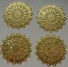 PACK OF GOLD PLATED FILAGREE PENDANT PARTS FOR CRAFT USE PACK CHOICES AVAILABLE