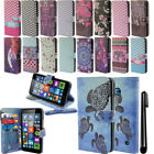 For Microsoft Nokia Lumia 640 Flip Wallet LEATHER POUCH Case Phone Cover + Pen