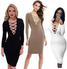 New Women Slim Hollow Bodycon Cocktail Party Evening Club Bandage Pencil  Dress