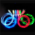 LED Light Micro USB Charger Data Sync Cable for Samsung Galaxy S4 HTC Android BN