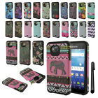 For Kyocera Hydro Wave C6740 Air C6745 Dual Layer HYBRID HARD Case Cover + Pen