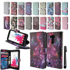 For LG G Vista VS880 G Pro 2 Flip Wallet LEATHER POUCH Case Phone Cover + Pen