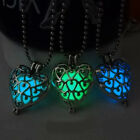 Unisex Steampunk Magic Fairy Locket Luminous Glow In The Dark Pendant Necklace