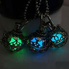 Lucky Fairy Round Key Magic Locket Glow In The Dark Pendant Necklace Unisex Gift
