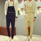 Casual Men's Cotton One Piece Jumpsuits Suspender Trousers Overalls Skinny Pants