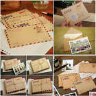 10pcs/set Mini Envelope Vintage Style Airmail Kraft Paper 4 different Designs