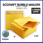 "1-9000 #CD 7.25x8 ""EcoSwift"" Kraft Bubble Mailer Padded Envelope Bags 7.25"" x 8"""