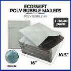 """1-3600 #5 10.5x16 """"EcoSwift"""" Poly Bubble Mailers Padded Envelope Bags 10.5 x 16"""