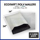 "1-1000 24 x 24 ""EcoSwift"" Poly Mailers Envelopes Plastic Shipping Bags 2.35 MIL"