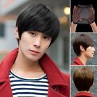 Vogue Sexy Mens Handsome Short Straight Cosplay Party Hair Wig Full Wigs+Wig Cap