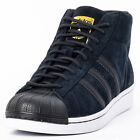Adidas Pro Model Winterized Mens Suede Black White Trainers