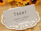 Personalised White Wedding Place Cards/Seating Cards/Escort Cards