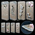 Bling Crystal Rhinestone Diamond Clear Hard Case Cover For iPhone 6s / 7 / Plus