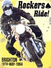 New Rockers Ride Brighton 1964 Mods and Rockers Riots Tin Sign