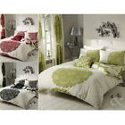 Floral & Striped  Poly Cotton Duvet Cover Bed Quilt Cover Bedding Set