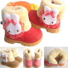 Cute Baby Girls Infant Toddler Winter Warm Rabbit Shoes Snow Boots  9-72 Monthes