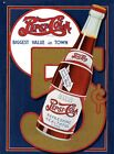 New Pepsi Cola Biggest Value In Town Metal Tin Sign