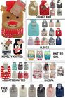 Hot Water Bottle With Cover Knitted Or Faux Fur Kids Childrens Many Designs