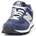 New Balance M574NN Mens Suede & Mesh Navy Trainers