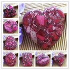 1pcs/8pcs Wonderful Peachblow Sea Sediment Jasper & Pyrite Pendant Bead XX701