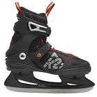 K2 FIT Ice Skate Semisoft Mens Iceskating Shoes (black orange) NEW