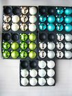 10 Luxury Round Glass Matt Pearlised Baubles Champagne Green White Teal Silver