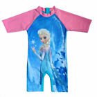 2015 New Kids Swimsuit Siamese Frozen Elsa Princess Anna Sunsuit UV Protection
